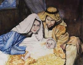 #9 for Illustration of Nativity scene with three faces (portrait work) af delrosariohannah