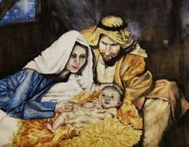 #13 for Illustration of Nativity scene with three faces (portrait work) af delrosariohannah