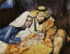 Nro 13 kilpailuun Illustration of Nativity scene with three faces (portrait work) käyttäjältä delrosariohannah