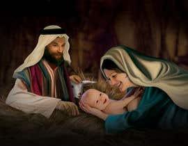 Nro 4 kilpailuun Illustration of Nativity scene with three faces (portrait work) käyttäjältä dhruvil4793