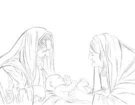 Nro 10 kilpailuun Illustration of Nativity scene with three faces (portrait work) käyttäjältä dhruvil4793