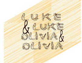 "#49 untuk I need a logo done in script with the names ""Luke and Olivia."" Doesn't have to be linear, can be circular, whatever. Looking for your creativity. oleh Dadan1995"