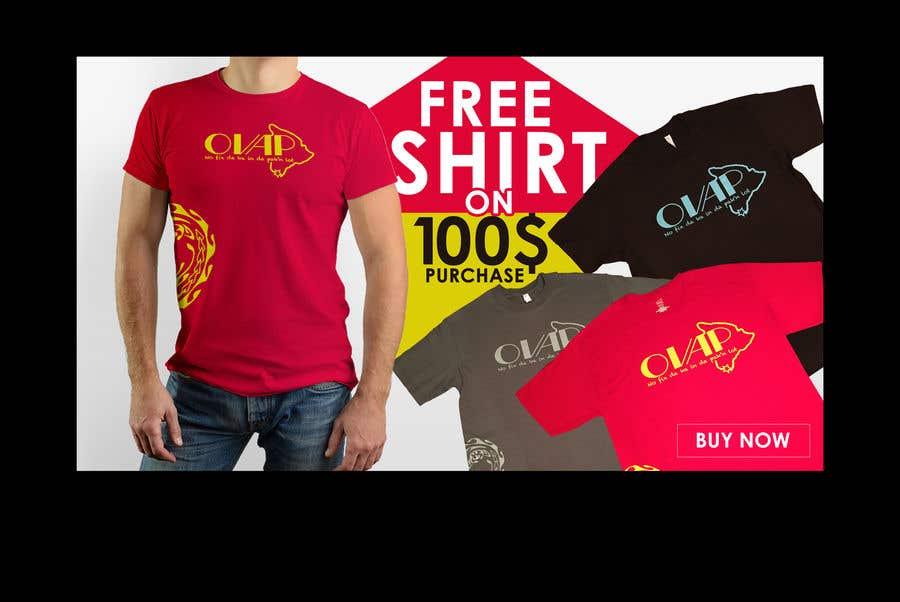 Kilpailutyö #19 kilpailussa Free T-Shirt banner
