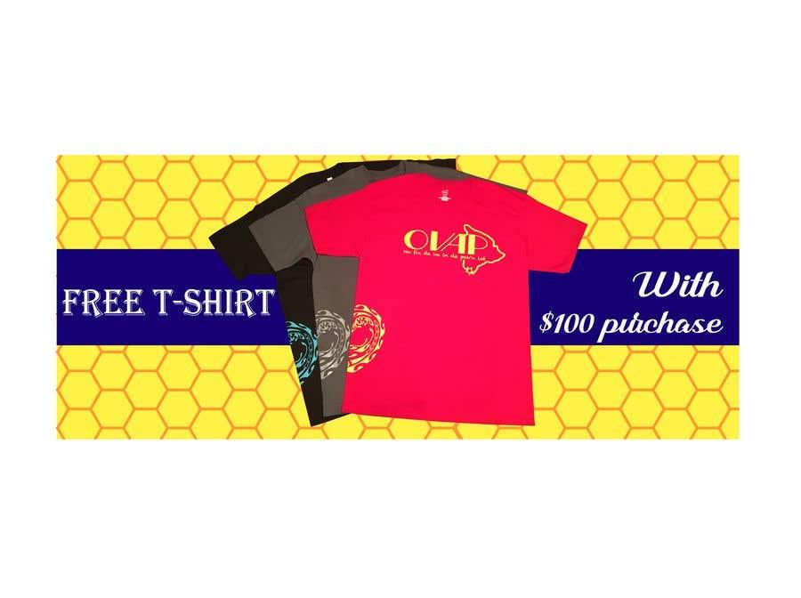 Kilpailutyö #115 kilpailussa Free T-Shirt banner