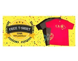 #117 for Free T-Shirt banner by srmon