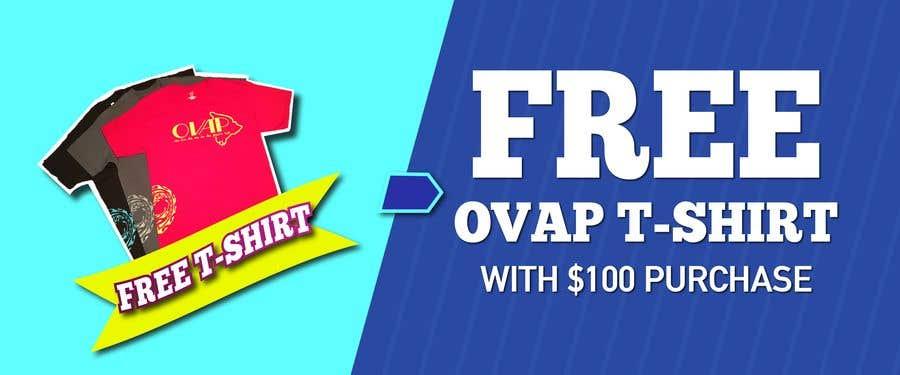 Kilpailutyö #55 kilpailussa Free T-Shirt banner