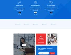 "Tonisaha tarafından Design me a front page of a Corporate Website ""Balance"". Winner get a 400$ whole project! için no 16"