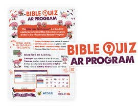 "#32 for Enhance our flyer (for our ""Bible Quiz AR Program"") by mirandalengo"