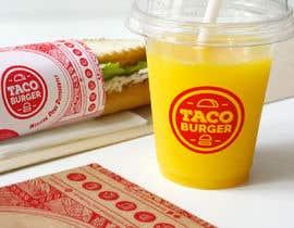 Nro 55 kilpailuun Taco Burger Wrapper Design käyttäjältä veranika2100
