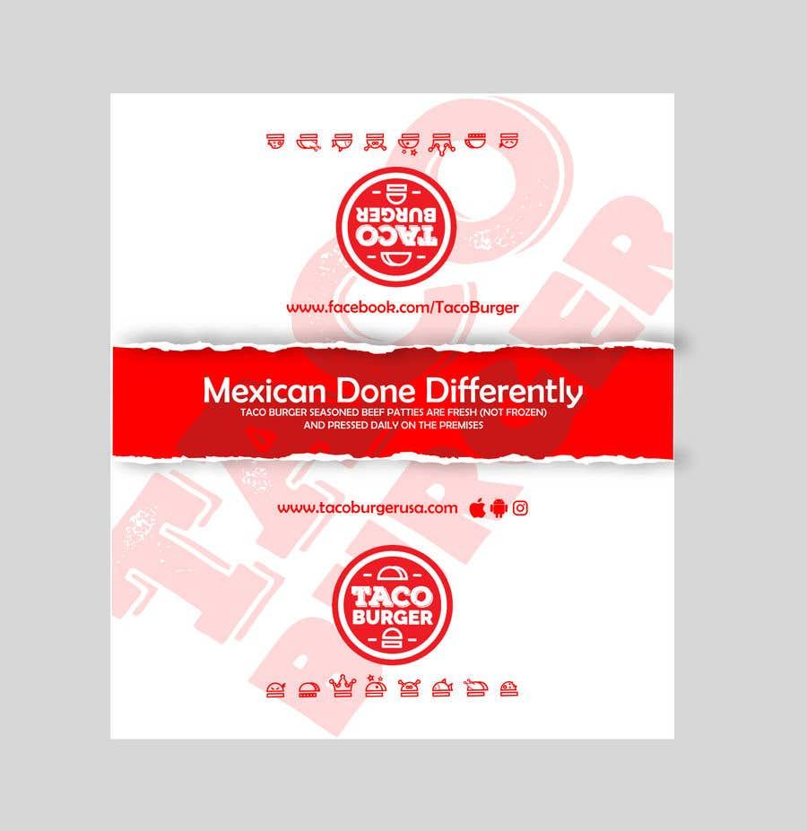 Kilpailutyö #23 kilpailussa Taco Burger Wrapper Design