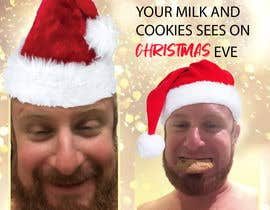 #1 cho I'd like a Santa hat photo shopped on both pictures of the guy and then combined together with the text shown on the first picture. This will be a Christmas card so feel free to add other Christmas-like images like lights around the photo...etc. bởi AdnanAich