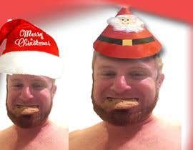 #5 cho I'd like a Santa hat photo shopped on both pictures of the guy and then combined together with the text shown on the first picture. This will be a Christmas card so feel free to add other Christmas-like images like lights around the photo...etc. bởi shamim1999bgpi