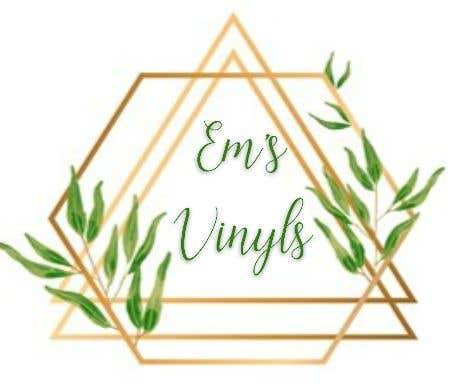 """Конкурсная заявка №33 для I want a logo that says """"Em's Vinyls"""" I want it to be feminine. I love the colors olive green, and white. I love boho and farmhouse style. I am using this logo for my business of vinyl cups, tshirts, car decals, etc.  - 17/11/2019 12:37 EST"""