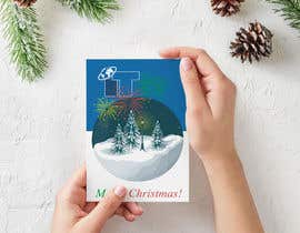 #83 cho Design Christmas logo and Christmas card in blue colors bởi RavenWings
