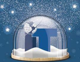 #88 cho Design Christmas logo and Christmas card in blue colors bởi gabysklona