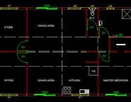 Nro 4 kilpailuun Convert sketch to floorplan käyttäjältä mohmmedmonzer