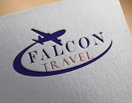 #178 untuk Logo design for new travel and tourism company selling travel tickets, hotel booking, and other tours .  Name of company is FALCON TRAVEL oleh keiladiaz389