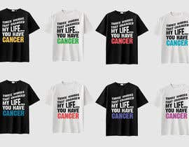 #5 untuk I want a T shirts for cancer awareness.  The word Cancer should be in different colors to represent the different types of Cancer.  This will be placed on a dark colored shirt. oleh feramahateasril