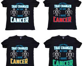 #11 untuk I want a T shirts for cancer awareness.  The word Cancer should be in different colors to represent the different types of Cancer.  This will be placed on a dark colored shirt. oleh saviarsarkar