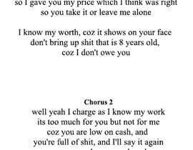 #12 pentru Write lyrics for the second verse of the song de către samcasper7