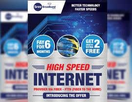 #53 cho flyer Design for Sree Broadband - Internet Service Provider bởi moslehu13