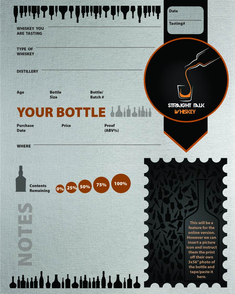 Konkurrenceindlæg #                                        8                                      for                                         Create 2-Sided Print Design for a Whiskey Enthusiast Product