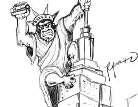 #13 для Vector: King Kong on Empire State Building with additional details от chie77