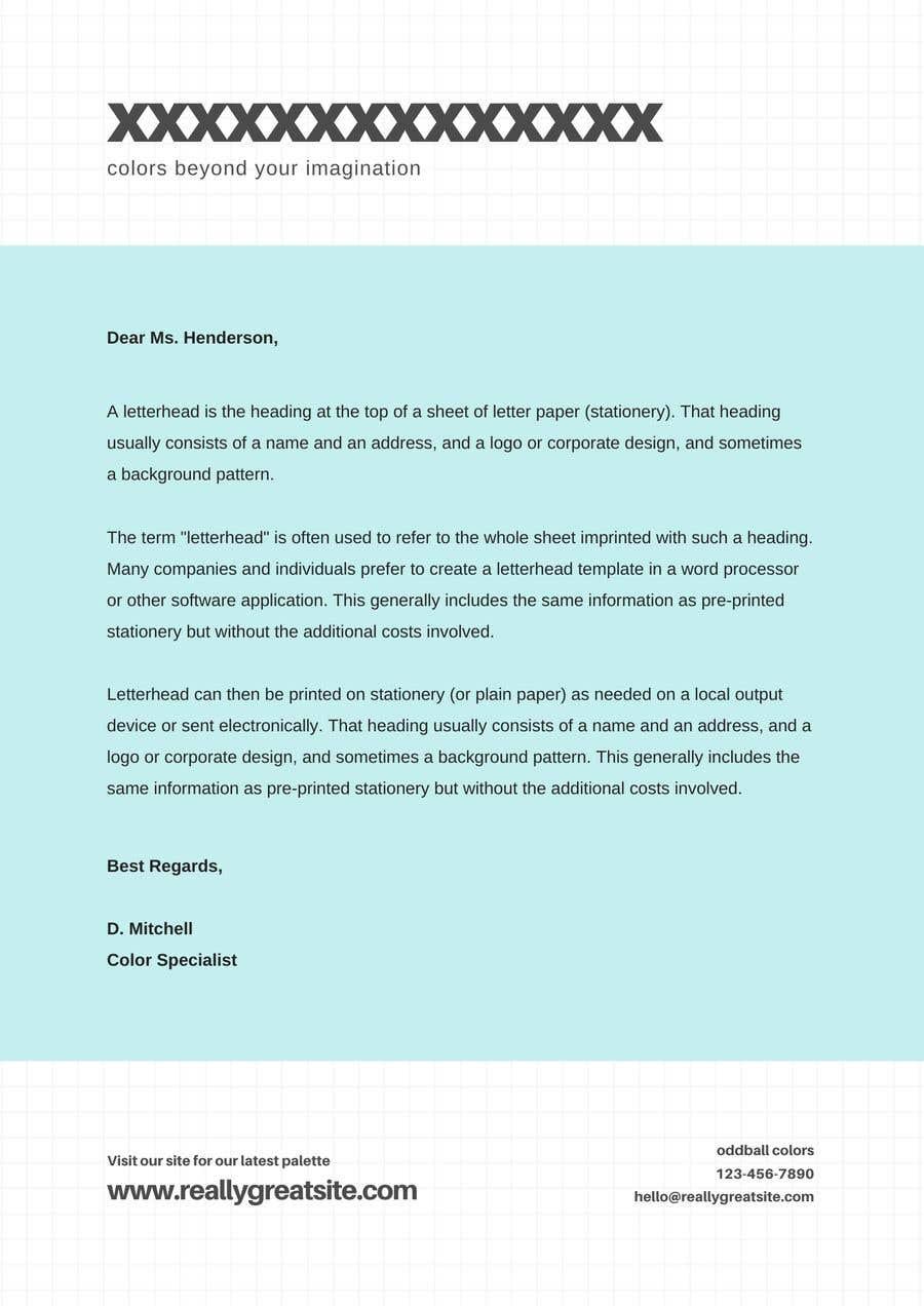 Konkurrenceindlæg #                                        171                                      for                                         Letterhead design