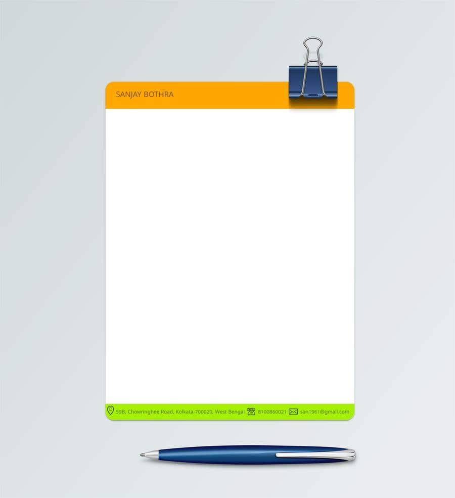 Konkurrenceindlæg #99 for Letterhead design