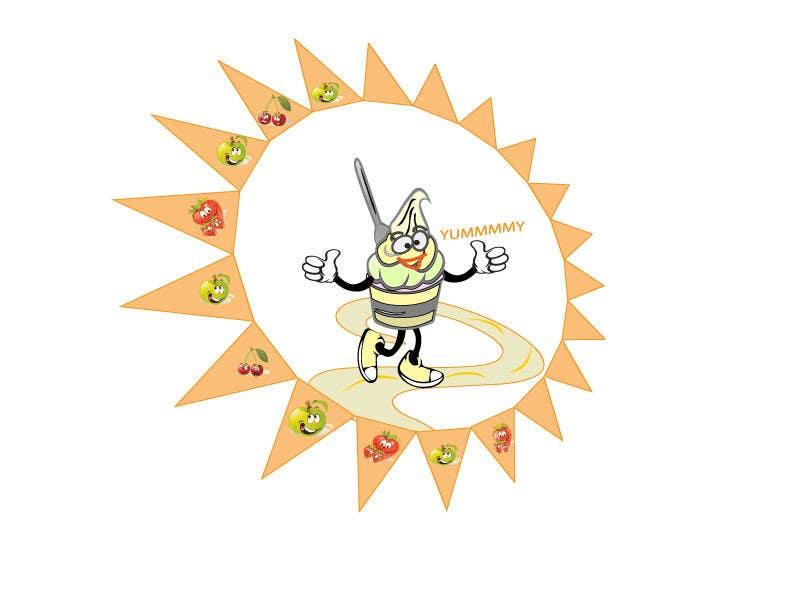 Kilpailutyö #                                        12                                      kilpailussa                                         Frozen Yogurt Logo Design