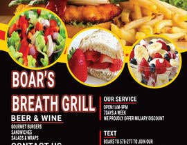 #34 for Create a DropIn 5x7 flyer for a restaurant. by begumema2019