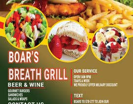 #39 for Create a DropIn 5x7 flyer for a restaurant. by begumema2019