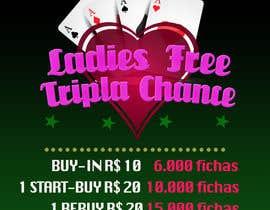 #15 para Projetar um Banner for Poker Tournament Ladies Free por gdjuliana