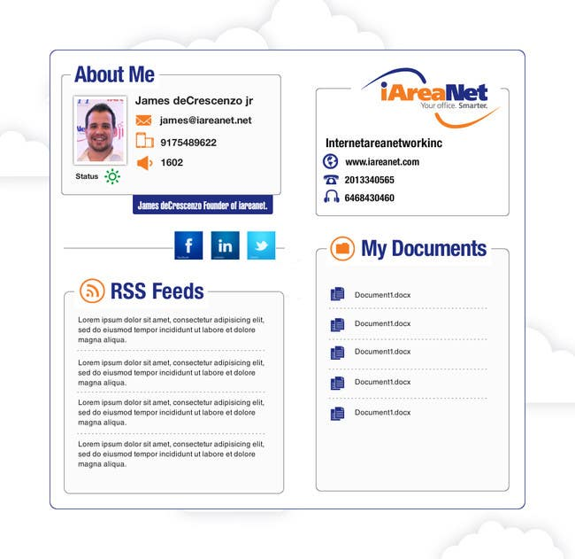 Contest Entry #                                        15                                      for                                         Web Reception Desk/Card Design for iAreaNet