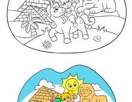 #26 for Colouring eBook Illustration for Kids (Girl & Her Unicorn) by mugenonizuka