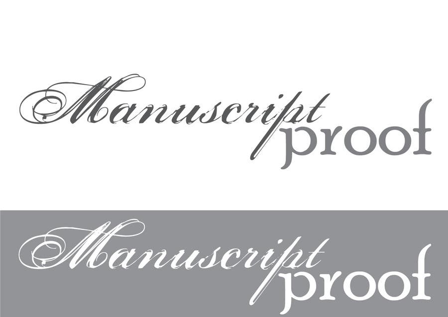 Bài tham dự cuộc thi #                                        74                                      cho                                         Logo Design for Manuscript Proof