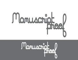#78 para Logo Design for Manuscript Proof por inspirativ