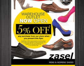 #14 para Flyer Design for the opening of a shoe warehouse outlet por mishyroach