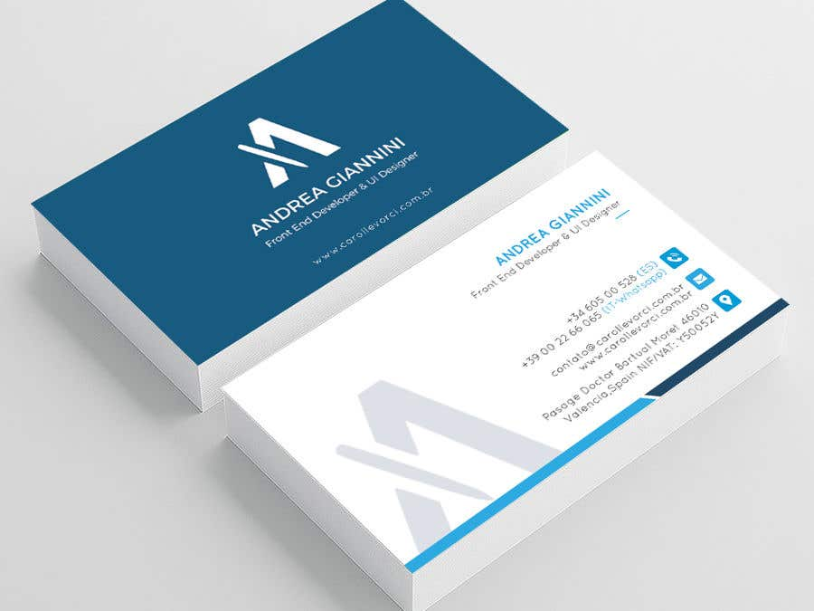 Contest Entry #261 for Andreality business cards