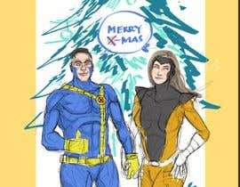 #5 for Cartoon drawings(Marvel like) of me and my girlfriend for a christmas cards af riomaretha