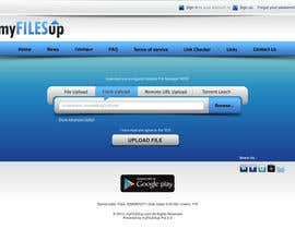ezesol tarafından Website Design for Upload Files website için no 13