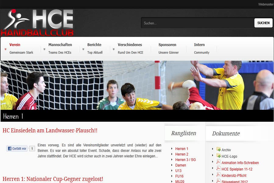 Contest Entry #                                        18                                      for                                         Logo integration into existing html template for a local sports club (handball)