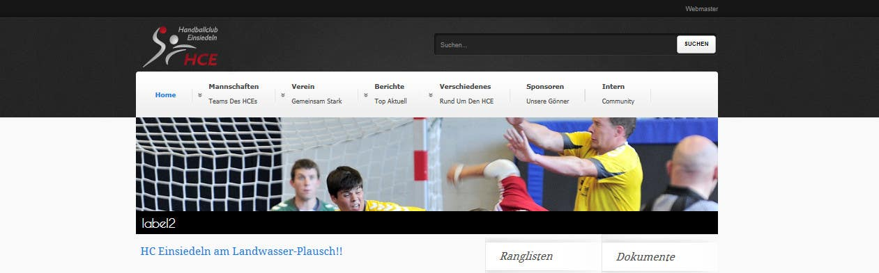 Contest Entry #                                        6                                      for                                         Logo integration into existing html template for a local sports club (handball)