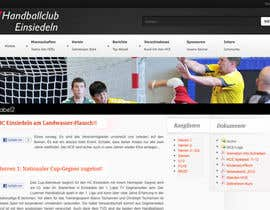 #11 untuk Logo integration into existing html template for a local sports club (handball) oleh FatXGraphics