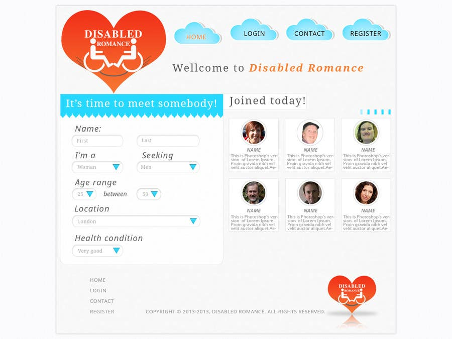 Inscrição nº                                         14                                      do Concurso para                                         Website Design for Dating website homepage