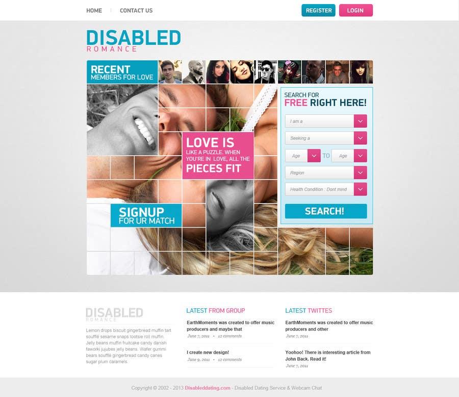 Kilpailutyö #                                        8                                      kilpailussa                                         Website Design for Dating website homepage