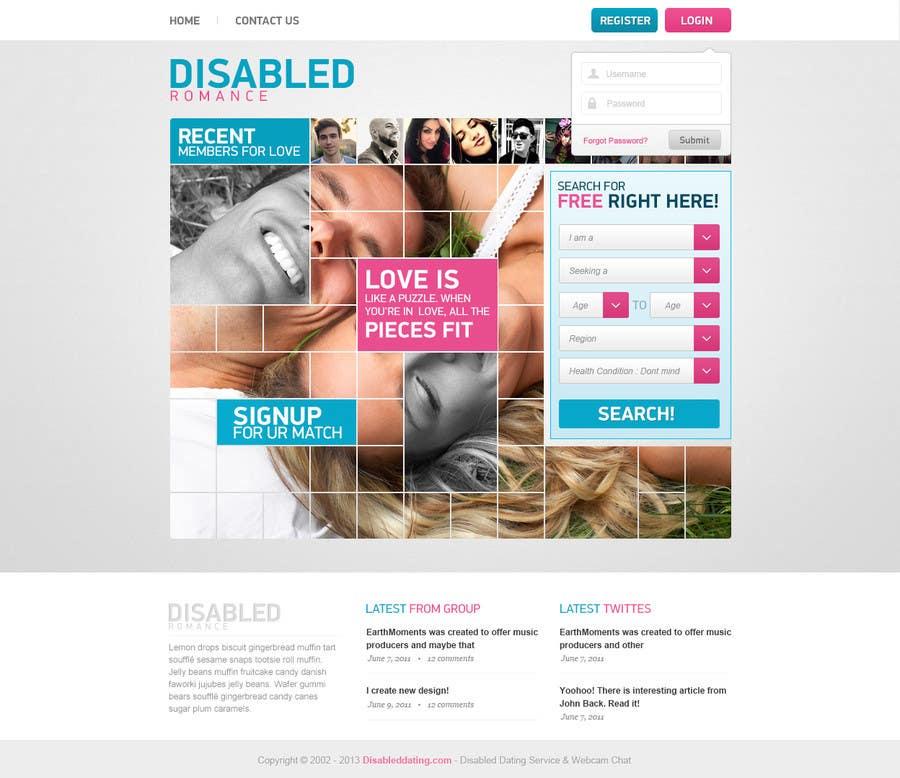 Bài tham dự cuộc thi #9 cho Website Design for Dating website homepage