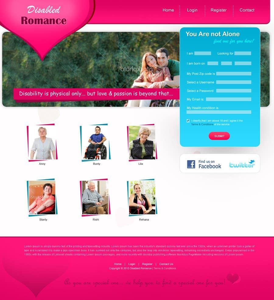 Kilpailutyö #                                        19                                      kilpailussa                                         Website Design for Dating website homepage
