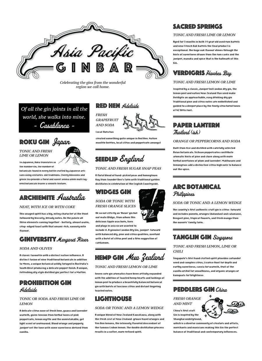 Konkurrenceindlæg #                                        19                                      for                                         GIN BAR POSTER