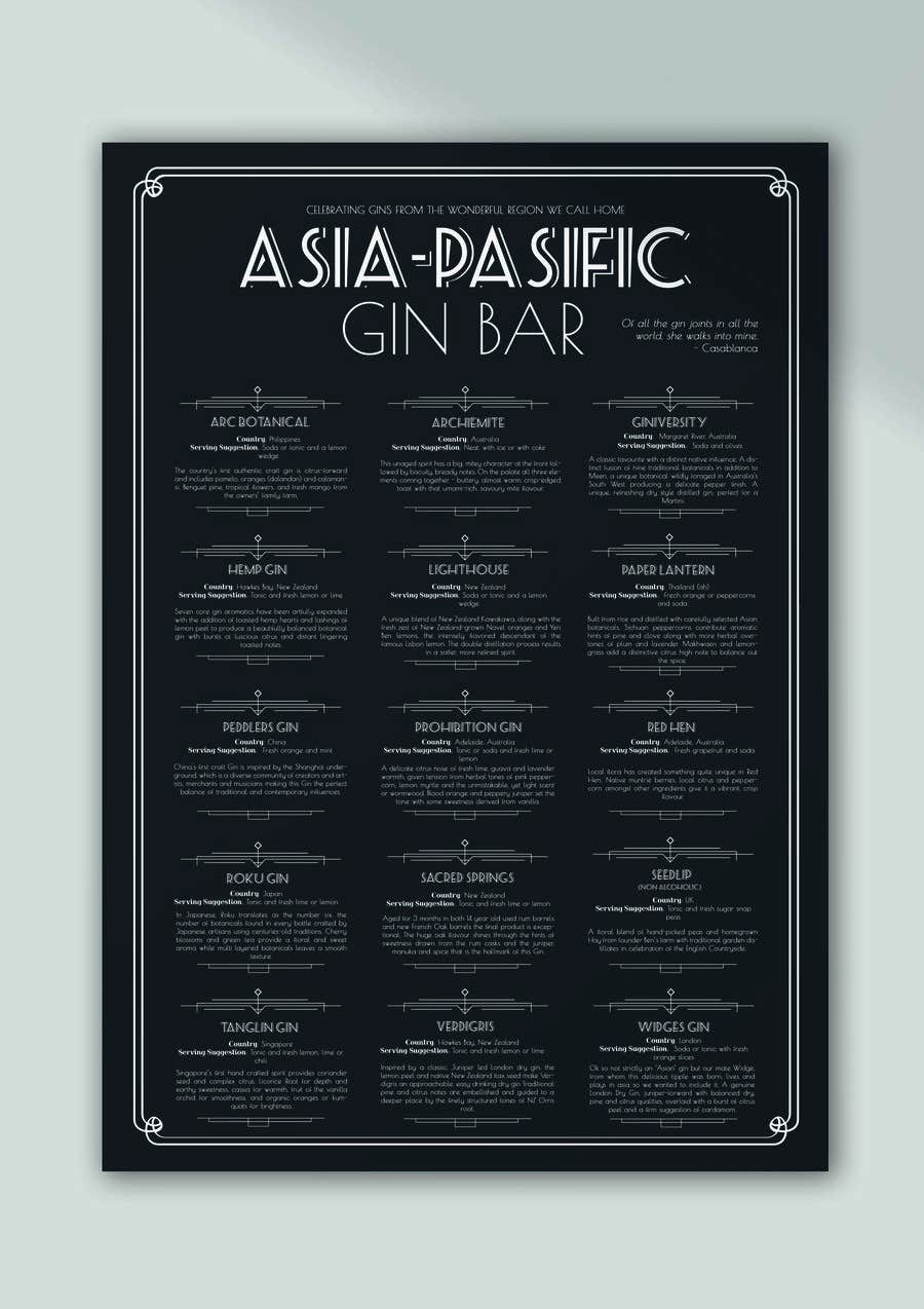 Konkurrenceindlæg #                                        50                                      for                                         GIN BAR POSTER